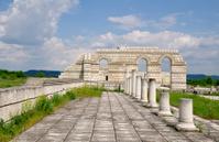 Ruins of ancient Bulgarian capital Pliska