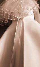 Sepia Toned Wedding Dress