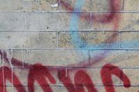 Brick Wall with Graffiti Texture