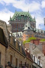 Chateau Frontenac in spring. Quebec city.