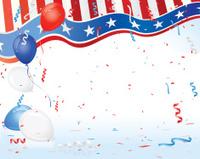 Patriotic USA Theme Party Decorations