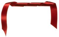 Curled red satin ribbon holiday border