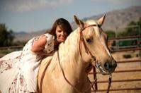 Loves her Horse