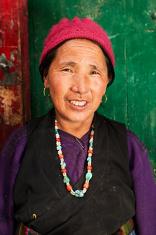Tibetan woman, Mustang, Nepal