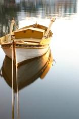 Boat on silent sea