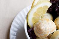 Escargot with Lemon Wedge