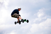 Mountain boarder in action