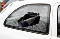 Car break-in, smashed window