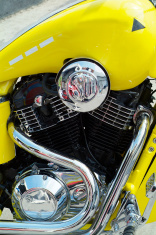 Engine and tank of classic motorbike
