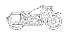 Old fashioned motorbike