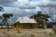 abandoned and dilapidated farm house