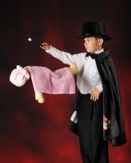Young Magician Levitating