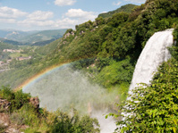 Marmore Waterfall, Umbria Italy - with natural rainbow
