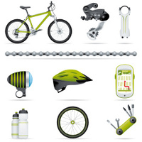 Icon set, bike (great detail)