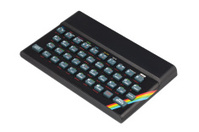Retro 1980's Sinclair ZX Spectrum computer.