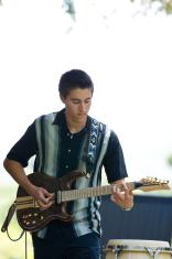 Man playing an Electric guitar