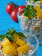 Arabian tabouleh dish with couscous
