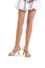 Gold shoes dancer