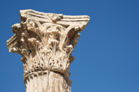Textured Roman Column Blue Sky