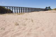 Sand dunes and Walking Bridge in Fort Bragg