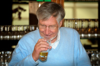 Bartender drinking a beer