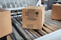 Parcels on packaging line