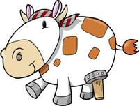 Cute Pirate Cow