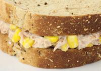 Tuna Mayonaise and sweetcorn sandwich