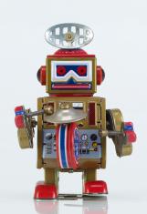 musician robot tin toy