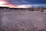 Sunset in Las Bardenas Reales desert (Navarra,Spain)