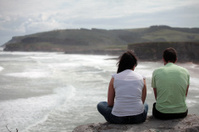 Couple overlooking the sea