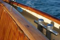 Closeup of sailing boat