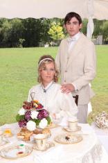 Formal portrait of couple