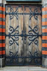 Back door to Allhelgona church
