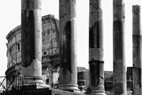 Coliseum. Black and White
