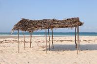 hut on the beach near Indian Ocean