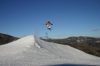 Skier Hitting Spine
