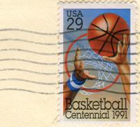 Basketball Centennial Postage Stamp