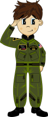 Cute USAF Saluting Pilot