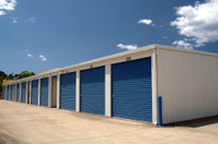 Row of storage rooms or garages