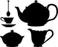 Tea set silhouettes