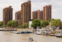 Houseboats, River Thames, Chelsea
