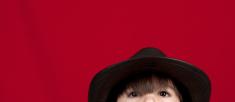 Kid wearing a hat