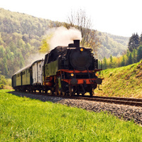 Historical German steam train