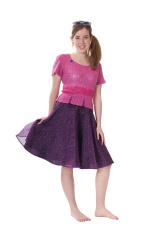 Teen Girl Wearing 50's Costume