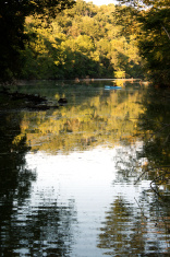 Fishing Kayaker in Lake