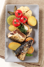 Pan fried mackerel