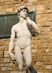 Michelangelo's David on Piazza Della Signoria in Florence