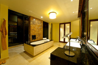 The bathroom of luxury hotel