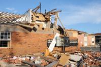Apartments damaged by tornado